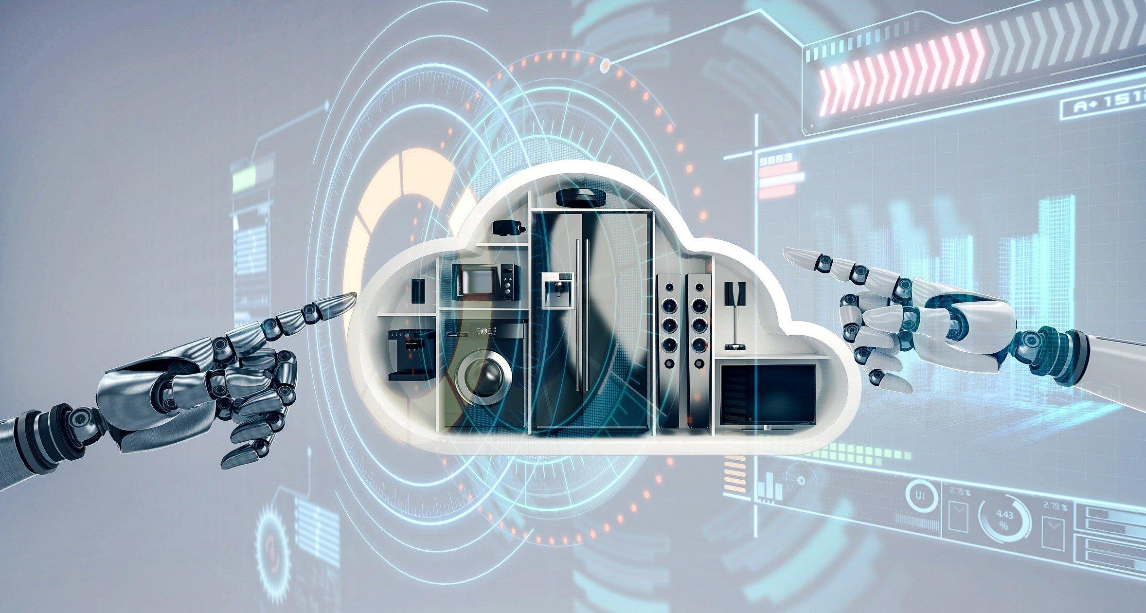 Elektrogeräte Hintergrund Cloud